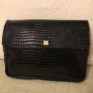 bfd8a8f8c3135 Givenchy Faux Black Crocodile Cosmetic Bag EUC